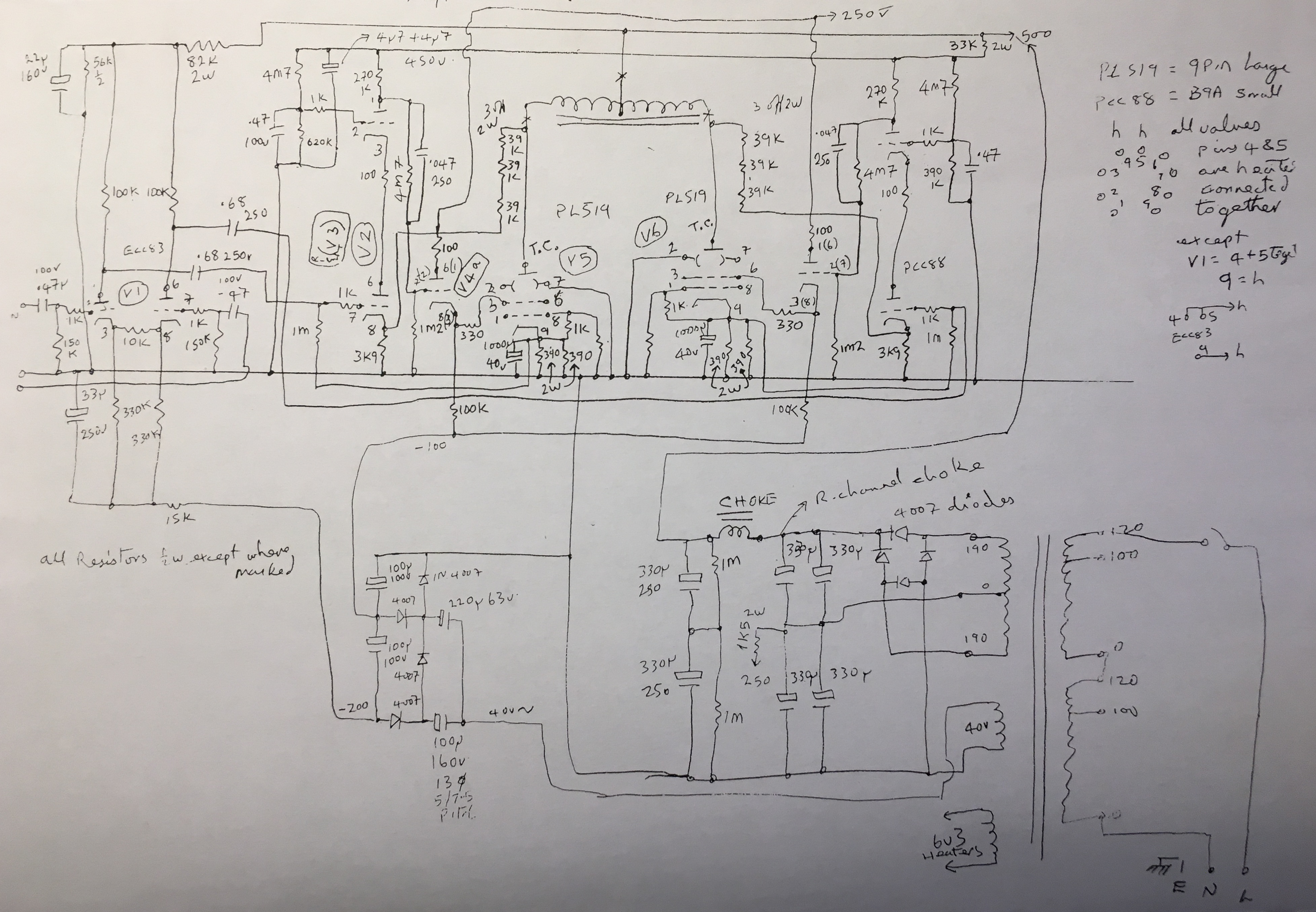 Ear 861 Schematic Below Shows A Typical Pushpull Amplifier Built With One Schematics As Found In Manual Mentioned Above The Input Capacitors 047uf 100v Were By Passed Actually They Are 1 Uf