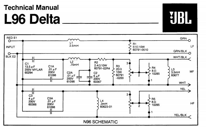 JBL-L112 Jbl Way Crossover Wiring Diagram on