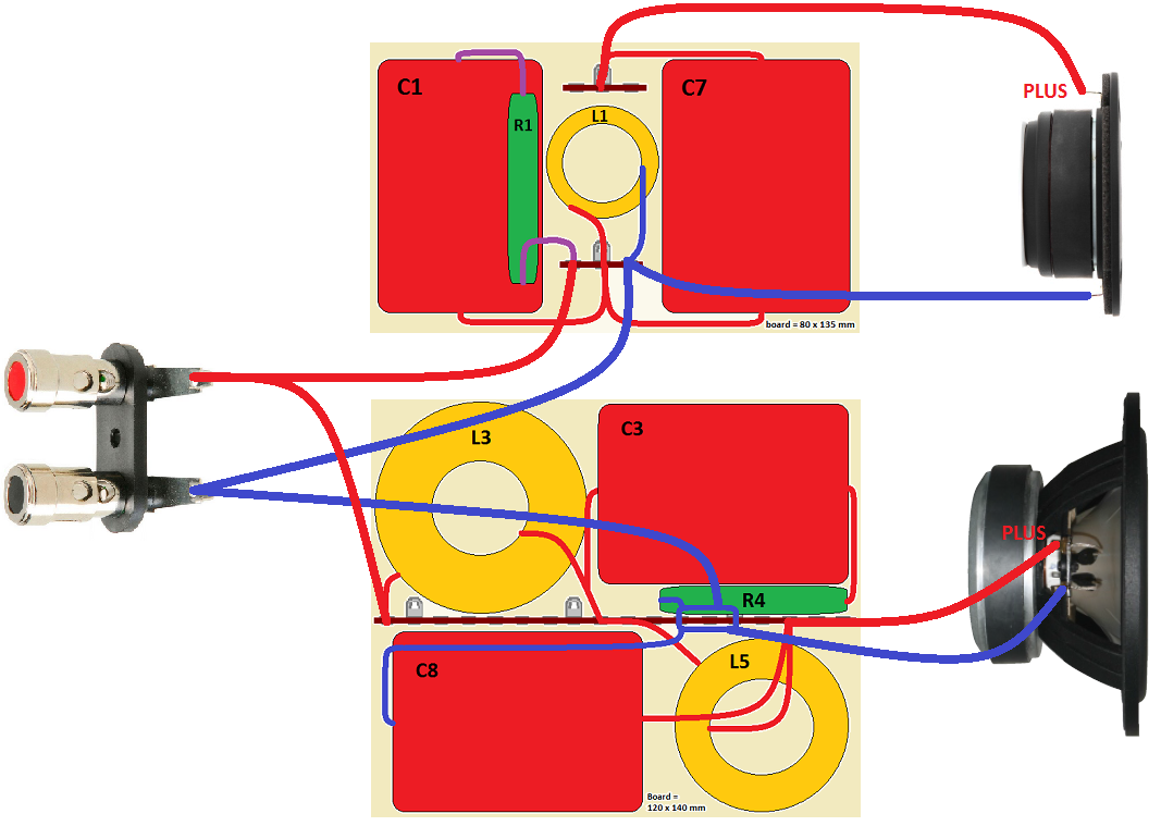 Sbacoustics 61 Nac 8 Ohm Speaker Wiring Series Parallel Both Drivers Connected With Positive Polarity