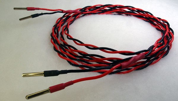 Jantzen Audio 13 AWG (2.6 mm^2) silver plated copper in PTFE insulation used for main speaker cables and internal wiring for bass drivers.